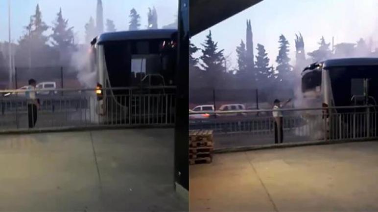اندلاع حريق في حافلة متروبوس بافجيلار بإسطنبول .. السبب؟؟