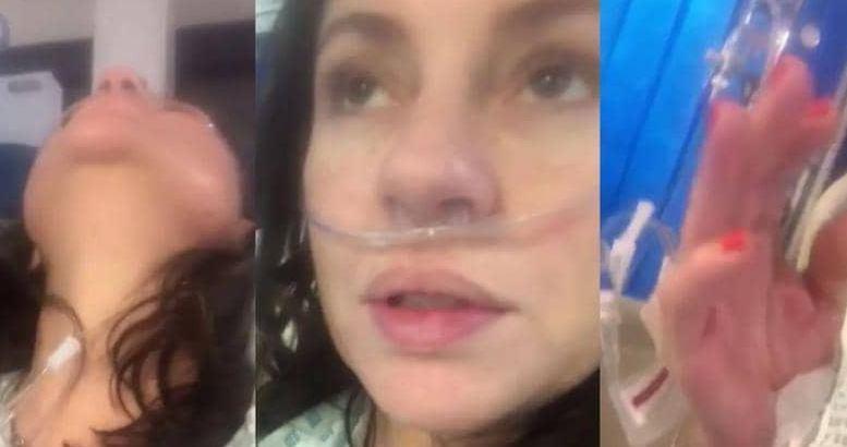 فيديو مؤلم| مفاجأة صادمة لمريضة كورونا تصف حالتها!!