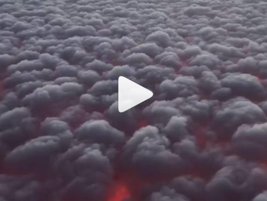 بالفيديو : اشتعال السحاب في سماء ولاية كاليفورنيا