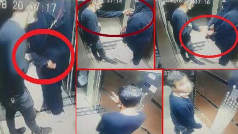 بالفيديو : رجل مجهول يتحرش بامرأة منتقبة