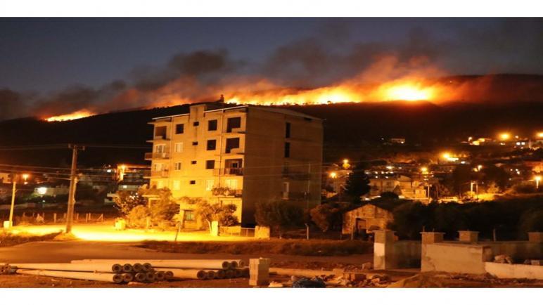 حريق كبير في آيدن يتسبب بإخلاء 90 منزلا وهروب مئات السكان