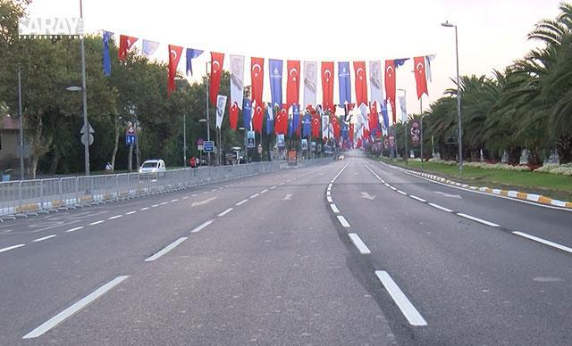 شارع وطن في اسطنبول أغلق أمام حركة المرور لهذا السبب