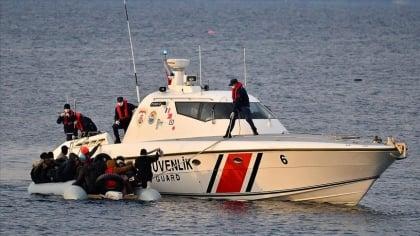 فرق خفر السواحل التركي تلقي القبض على 26 مهاجرا غير نظامي قبالة ساحل موغلا