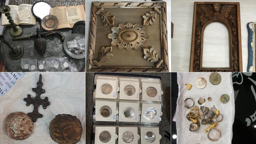 فرق الشرطة تمنع تهريب قطع أثرية في دنيزلي